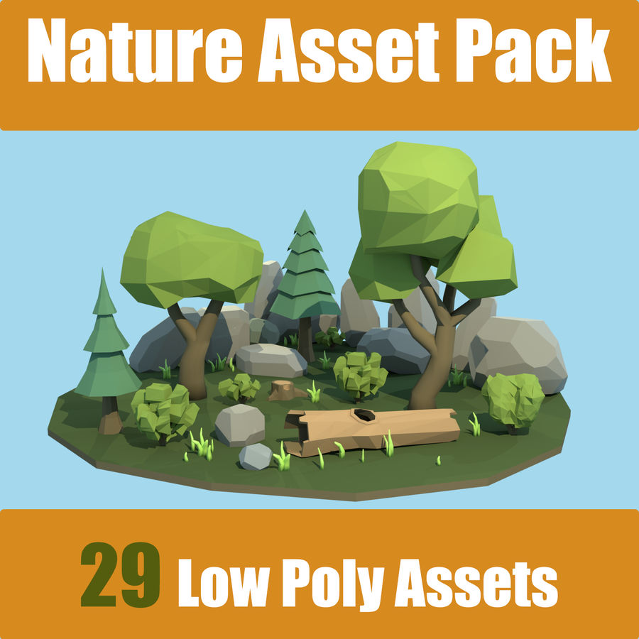 (SALE) Nature Asset Pack royalty-free 3d model - Preview no. 1