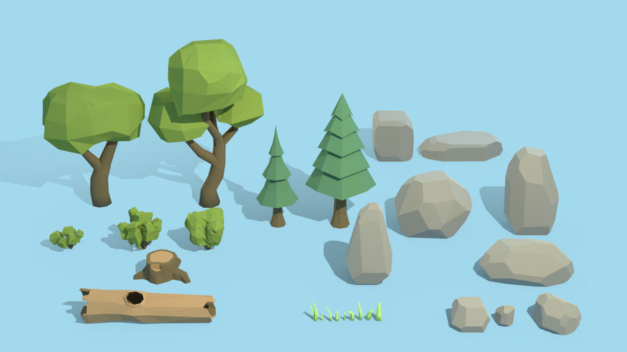 (SALE) Nature Asset Pack royalty-free 3d model - Preview no. 3
