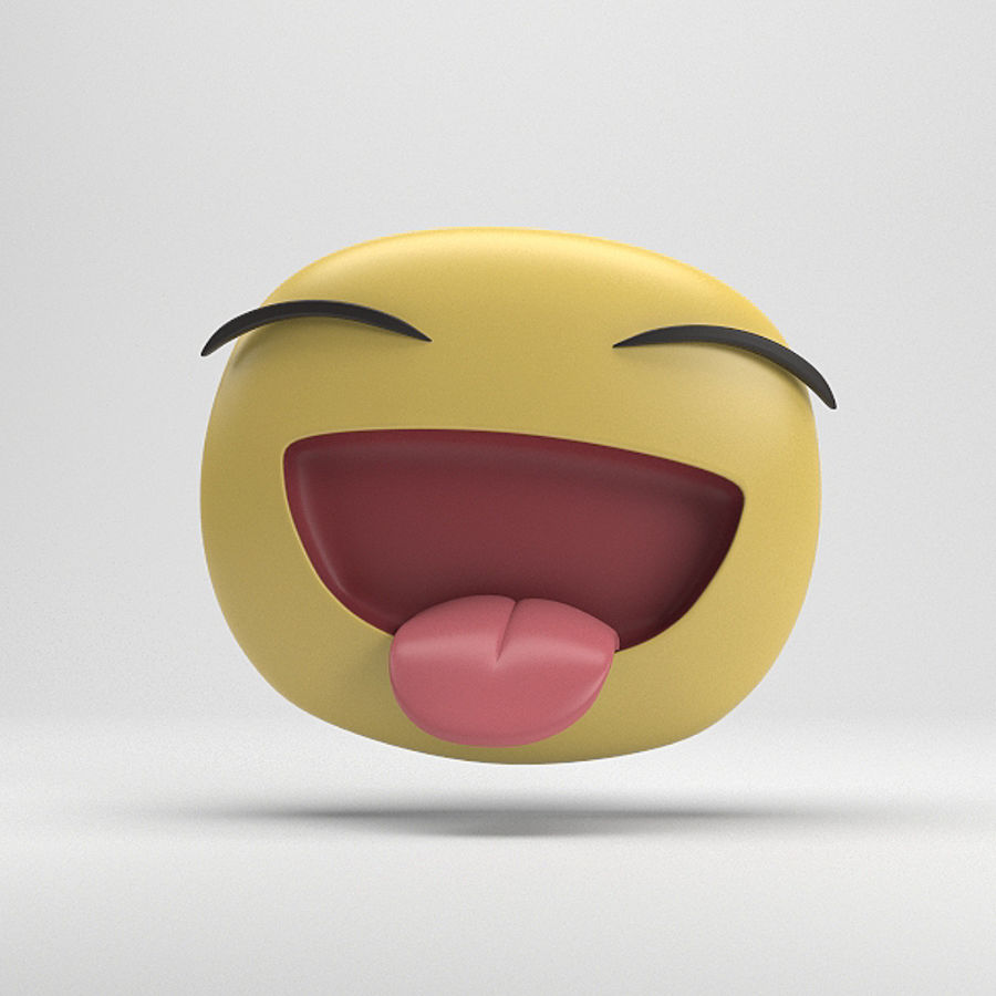 Facebook Sticker Laughing royalty-free 3d model - Preview no. 1