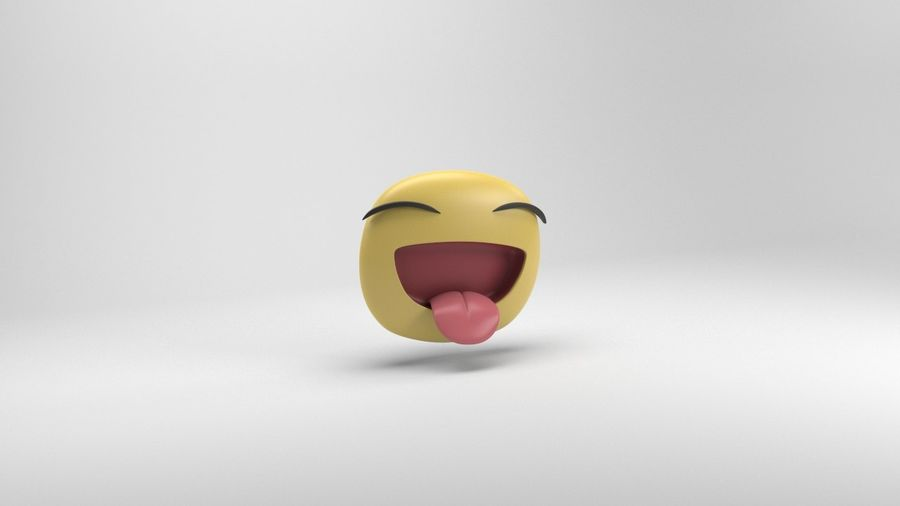 Facebook-sticker lachen royalty-free 3d model - Preview no. 3