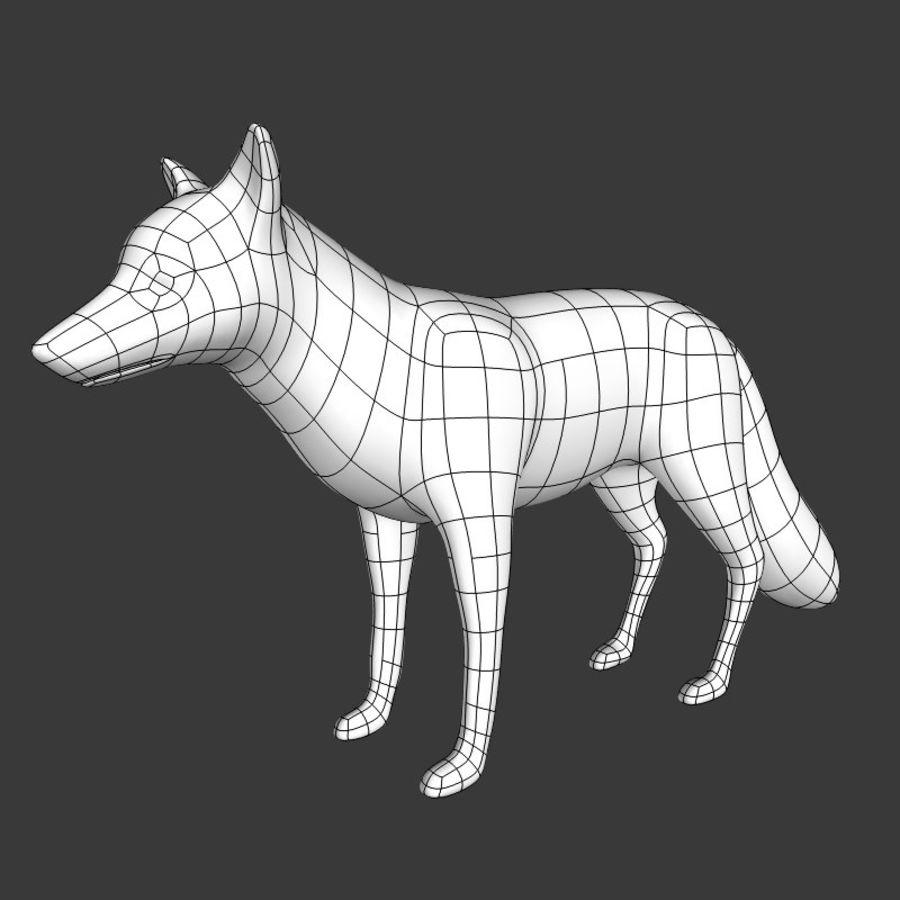 Fox Base Mesh royalty-free 3d model - Preview no. 1