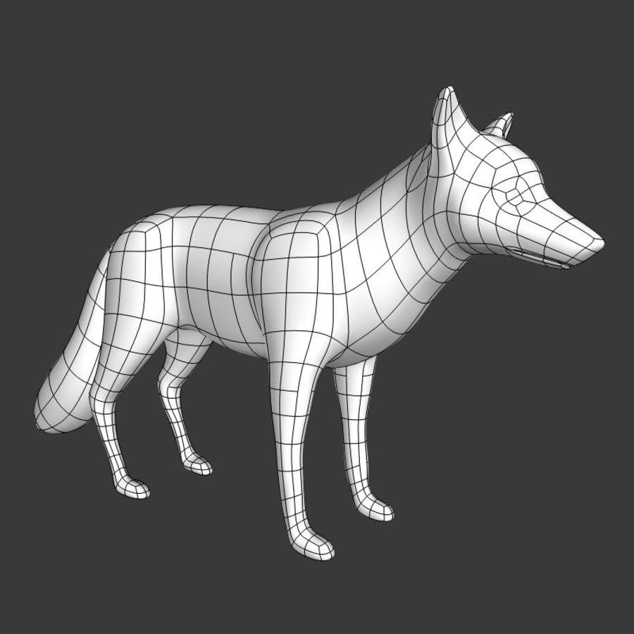 Fox Base Mesh royalty-free 3d model - Preview no. 3