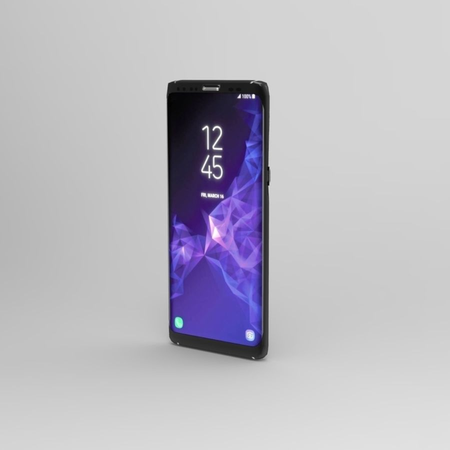 samsung galaxy S9 mobile royalty-free 3d model - Preview no. 2