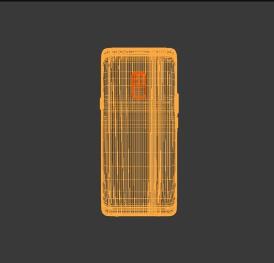 samsung galaxy S9 mobile royalty-free 3d model - Preview no. 3