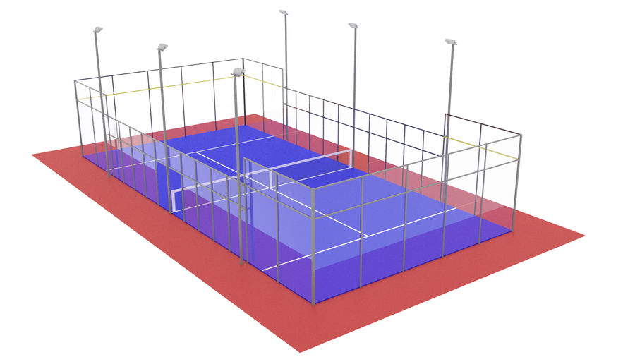 paddle tennis court royalty-free 3d model - Preview no. 1