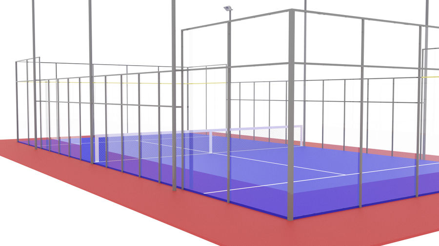 paddle tennis court royalty-free 3d model - Preview no. 3