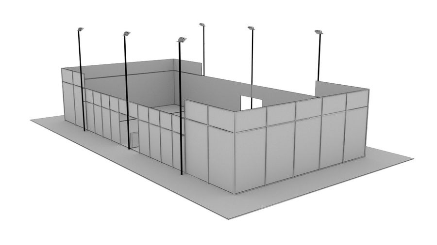 paddle tennis court royalty-free 3d model - Preview no. 4