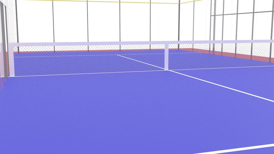 paddle tennis court royalty-free 3d model - Preview no. 2