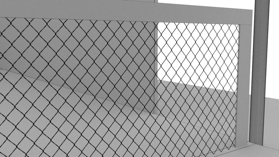 paddle tennis court royalty-free 3d model - Preview no. 5