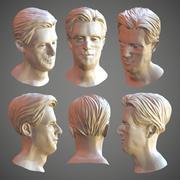 Modelo de cabello - lowpoly y esculpir modelo 3d