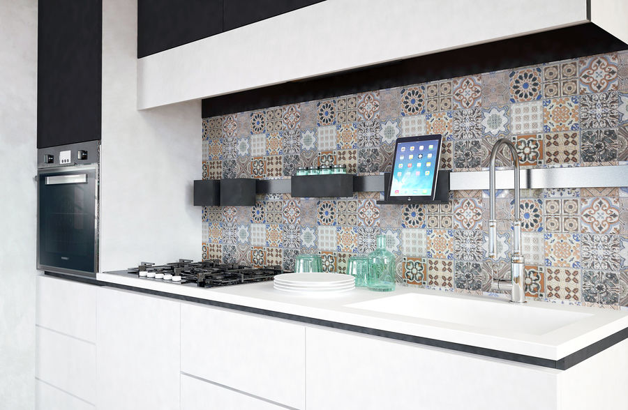 Modern kitchen design royalty-free 3d model - Preview no. 2