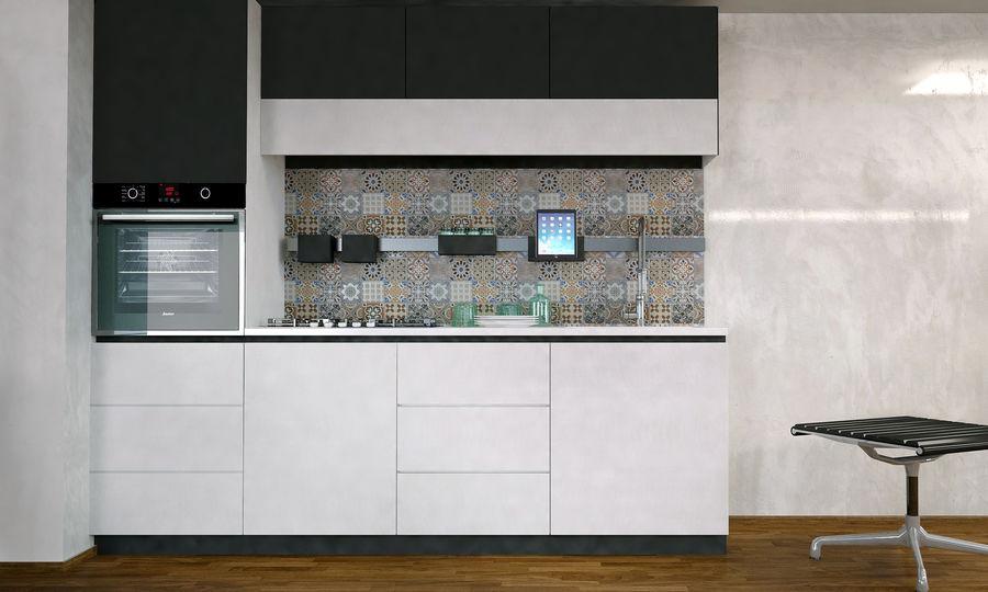 Modern kitchen design royalty-free 3d model - Preview no. 5