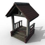 Porche de madera (claro) modelo 3d