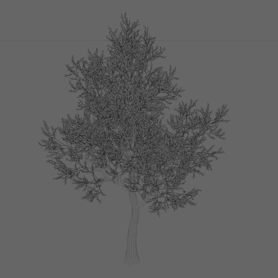 Albero foglia rosa royalty-free 3d model - Preview no. 2