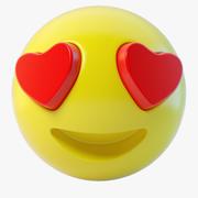 Amor emoji modelo 3d