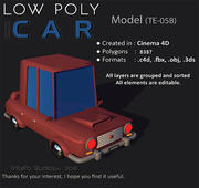 Laag poly auto 3d model