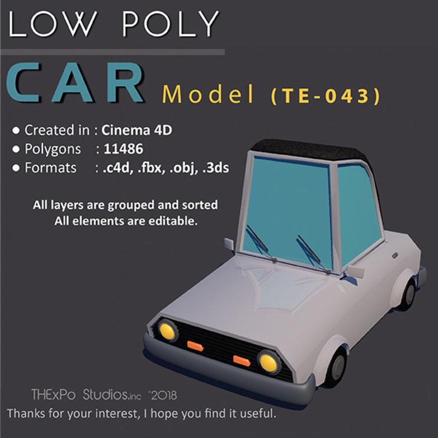 Low Poly Car    Model TE-043 royalty-free 3d model - Preview no. 1