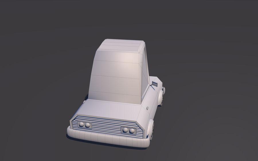 Low Poly Car    Model TE-043 royalty-free 3d model - Preview no. 5