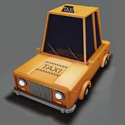 低ポリタクシー 3d model