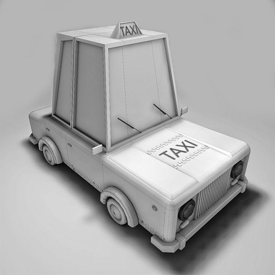 低ポリタクシー royalty-free 3d model - Preview no. 4