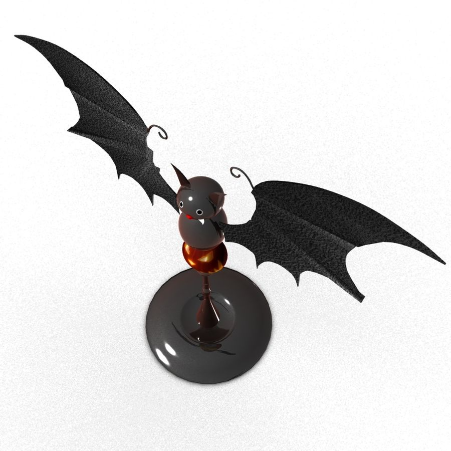 Halloween Fledermaus royalty-free 3d model - Preview no. 2