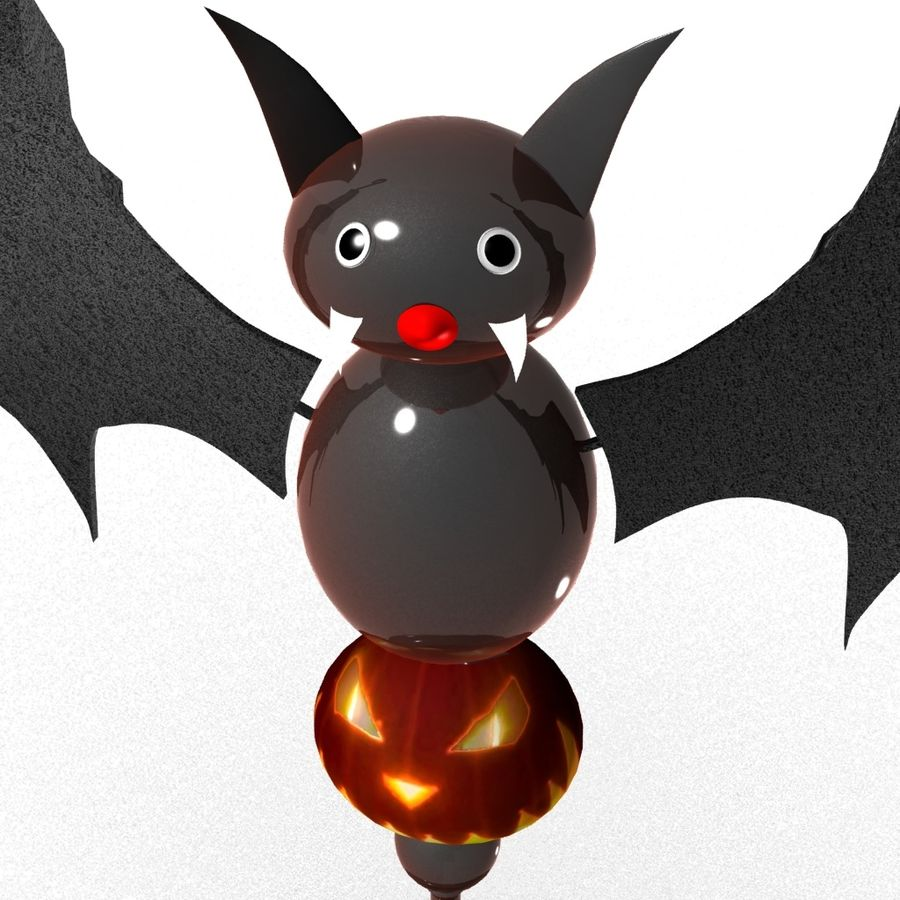 Halloween Fledermaus royalty-free 3d model - Preview no. 5