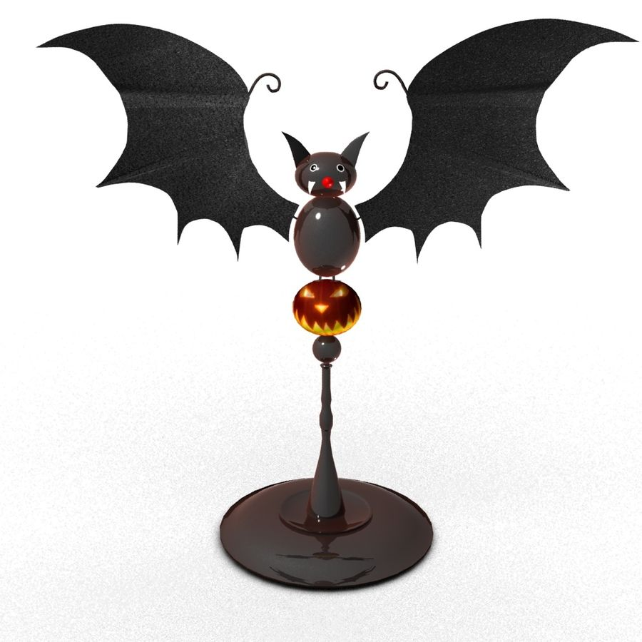 Halloween Fledermaus royalty-free 3d model - Preview no. 1