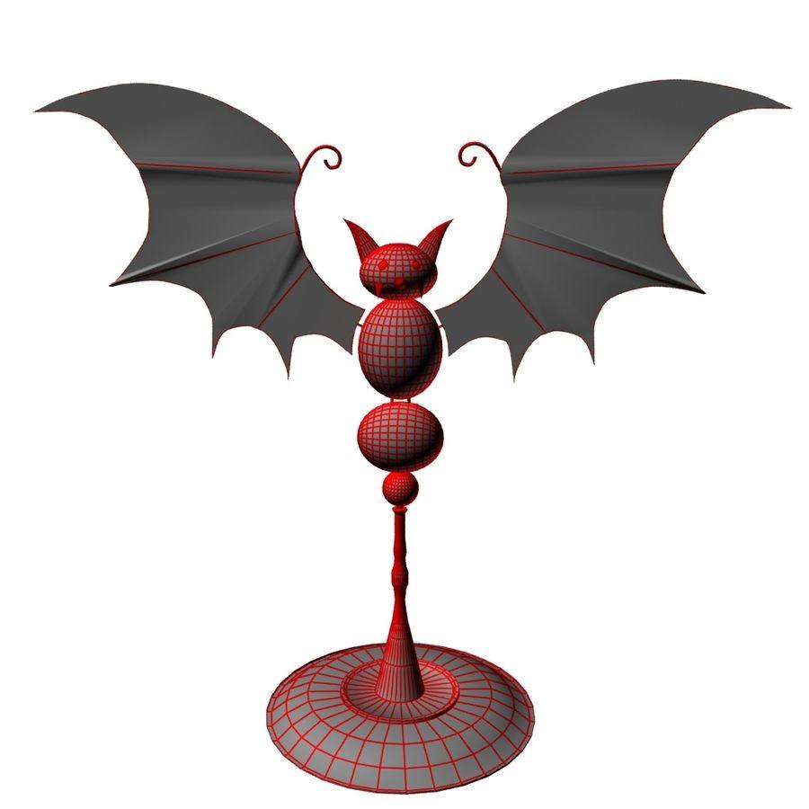 Halloween bat royalty-free 3d model - Preview no. 6