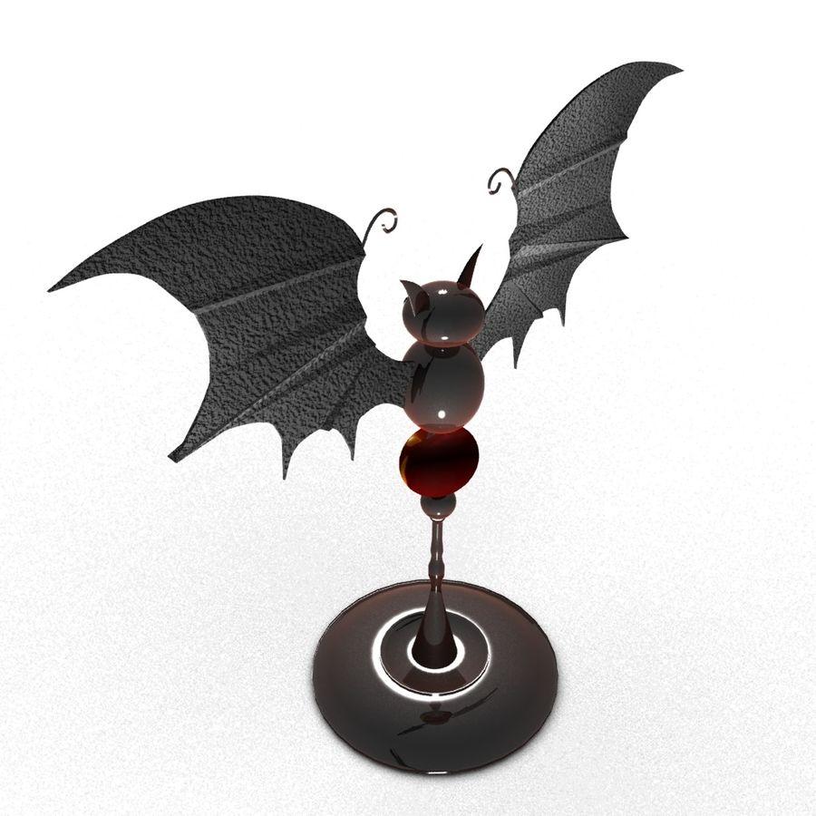 Halloween bat royalty-free 3d model - Preview no. 4