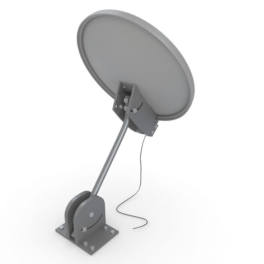 Satellite Dish royalty-free 3d model - Preview no. 5