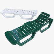 泳池椅 3d model
