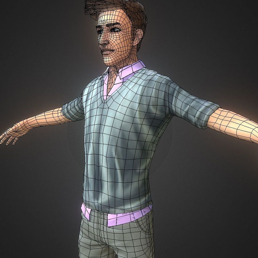 Guy royalty-free 3d model - Preview no. 10