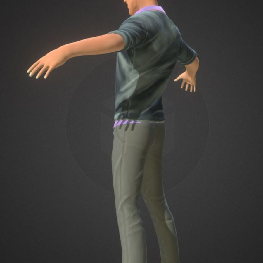 Guy royalty-free 3d model - Preview no. 6