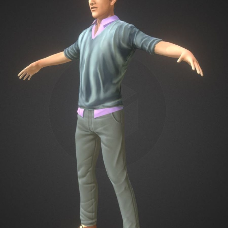 Guy royalty-free 3d model - Preview no. 8
