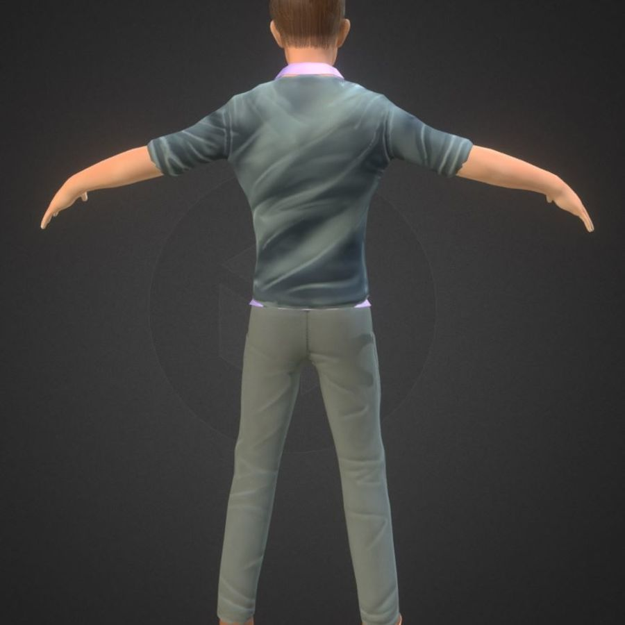Guy royalty-free 3d model - Preview no. 5