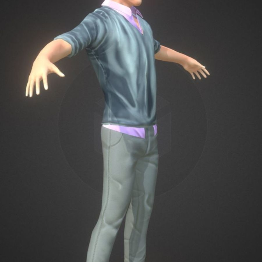 Guy royalty-free 3d model - Preview no. 3