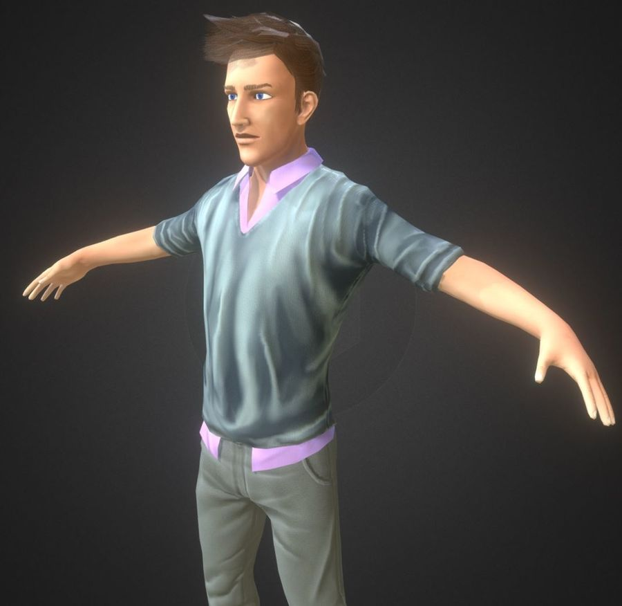Guy royalty-free 3d model - Preview no. 1