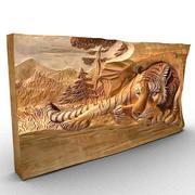 Engraved tiger 3d model