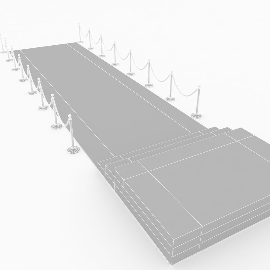 レッドカーペットシーン royalty-free 3d model - Preview no. 10