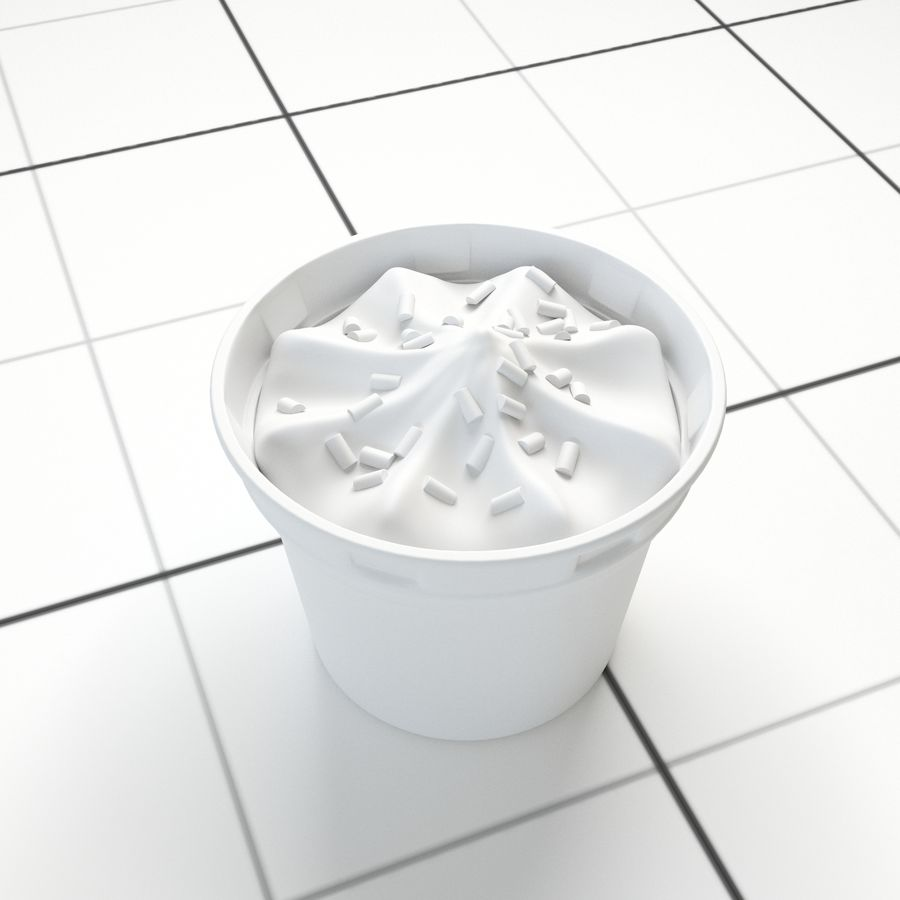 Chocolate Icecream Cup royalty-free 3d model - Preview no. 5
