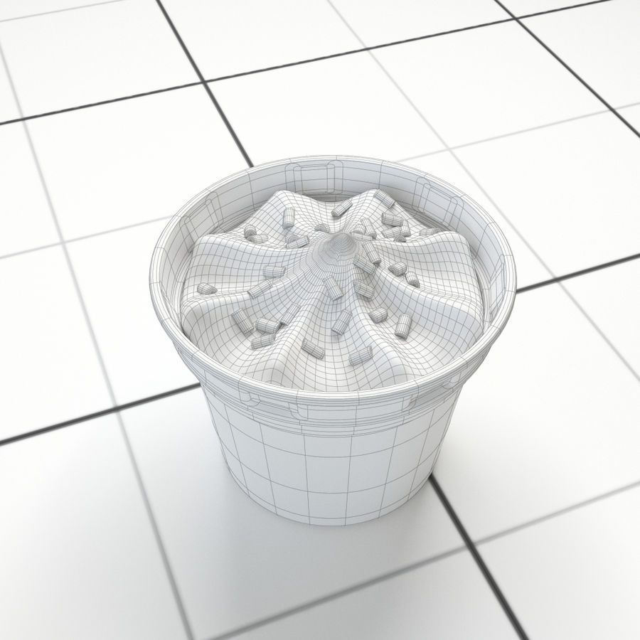 Chocolate Icecream Cup royalty-free 3d model - Preview no. 8