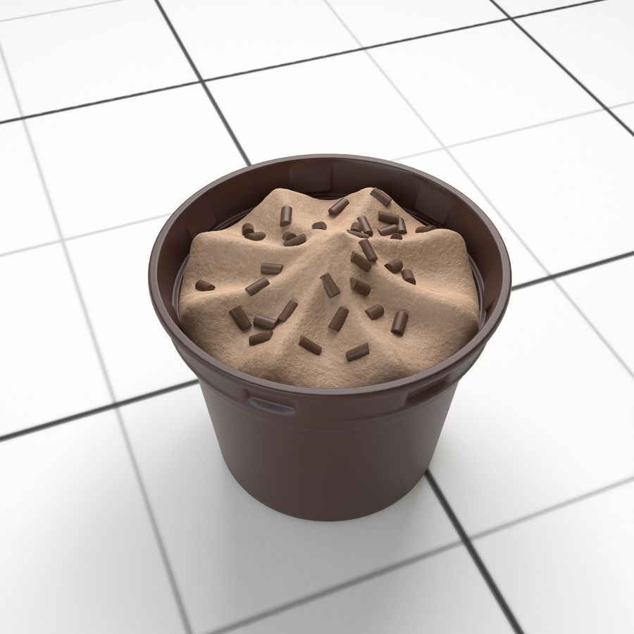 Chocolate Icecream Cup royalty-free 3d model - Preview no. 2