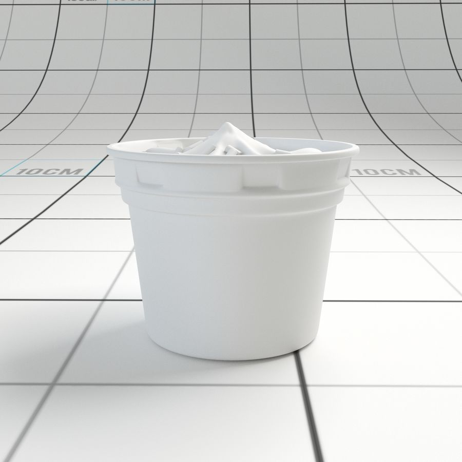 Chocolate Icecream Cup royalty-free 3d model - Preview no. 6
