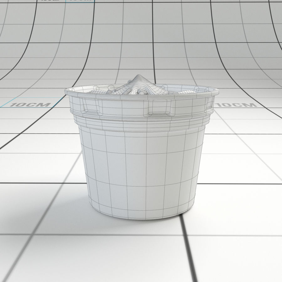 Chocolate Icecream Cup royalty-free 3d model - Preview no. 9