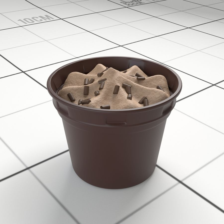 Chocolate Icecream Cup royalty-free 3d model - Preview no. 1