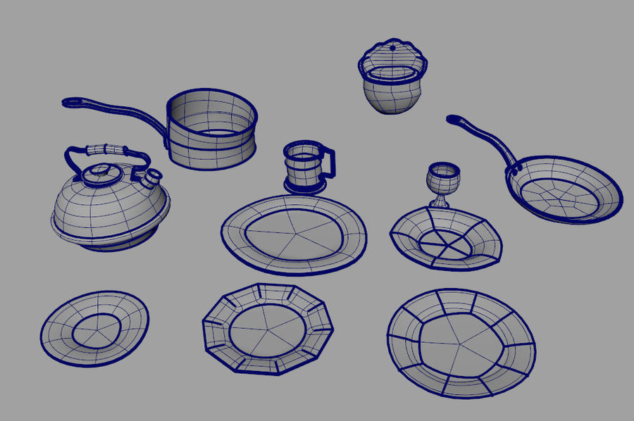 Dish royalty-free 3d model - Preview no. 5