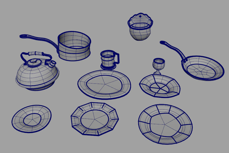 Dish royalty-free 3d model - Preview no. 4