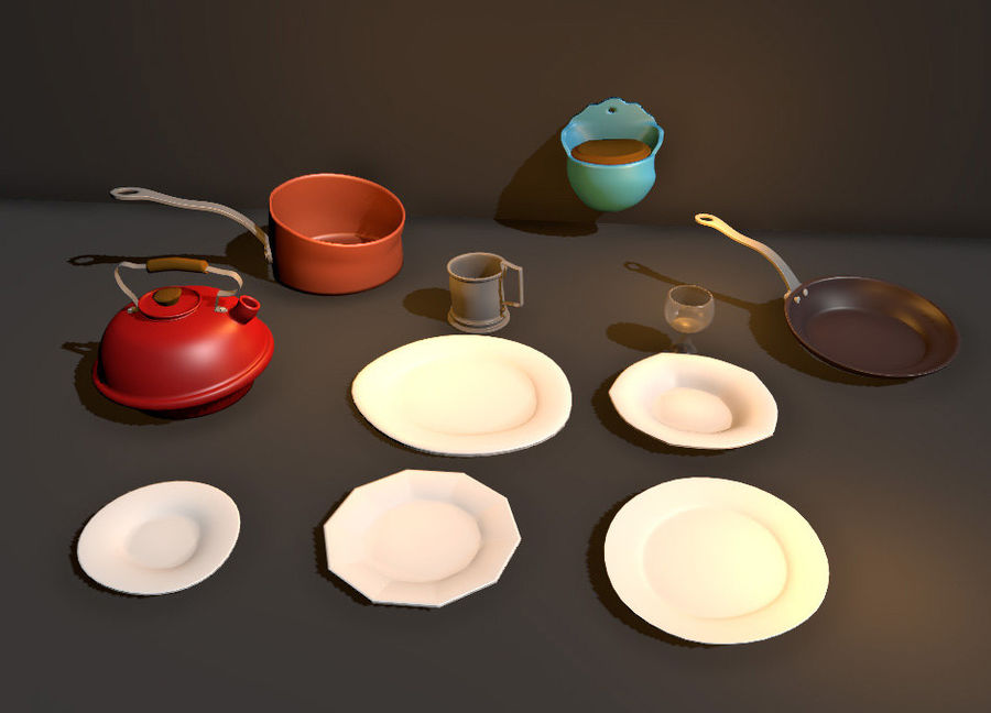 Dish royalty-free 3d model - Preview no. 1