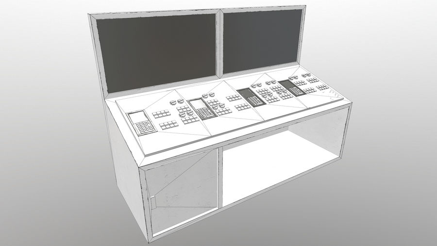 Panel sterowania royalty-free 3d model - Preview no. 4