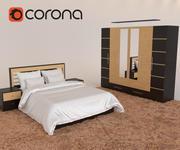 Zestaw do sypialni Majestic 3d model